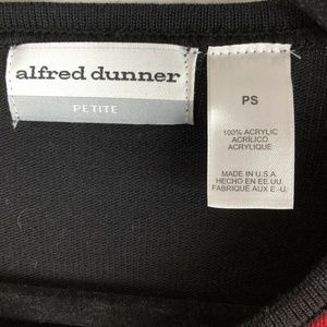 Alfred Dunner Sweaters - Alfred Dunner Petite S Faux Twinset Sweater Red